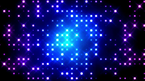Blue Glittering Light Grid Animation