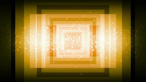 Yellow Illusion Tunnel Animation