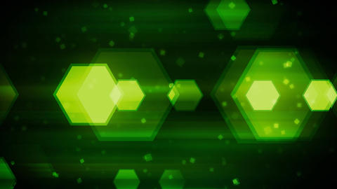Green Dynamic Hexagons Animation