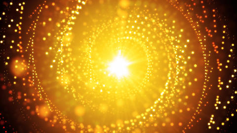 Golden Abstract Glitters Animation
