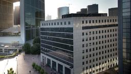 La Defense Grande Arche, Business, Paris France 4k stock footage