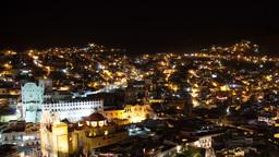 guanajuato at night, mexico 4k Footage