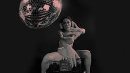 sexy female gogo dancing Footage