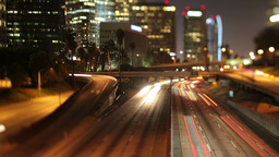 timelapse of traffic on freeway in downtown los angeles Footage