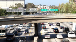 raffic on freeway in downtown los angeles Footage