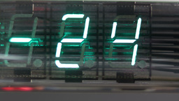 digital numbers LED clock counter 4k Footage