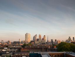 sunset of london skyline financial center england business Footage