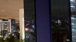 mexico city skyline night 4k Footage