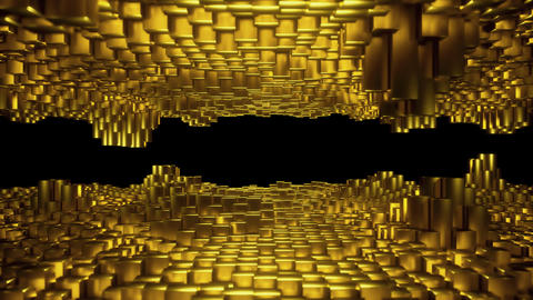 Gold Blocks Peaks 01 Animation