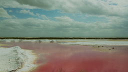salinas, salt flats, pink sea 4k Footage