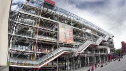 pompidou museum, paris france 4k Footage