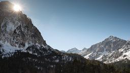 pyrenees mountains timelapse 4k Footage