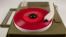 portable vintage record player 4k Footage
