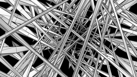 Wireframe Tunnel 01 Animation