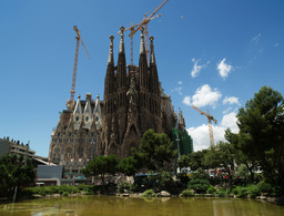 sagrada familia barcelona spain tourist landmark Footage