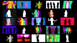 Shadow Dancers Mix4k00 stock footage