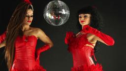 burlesque gogo dancers 4k Footage