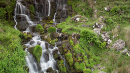 4k waterfall cascade isle of skye scotland timelapse mountains Footage