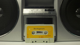 Cassette Tape Vintage Tape Recorder stock footage