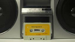 cassette tape vintage tape recorder Footage