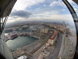 barcelona sea view spain mediterranean coast Footage