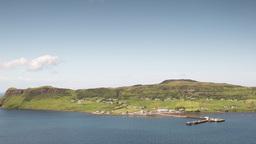 4k uig isle of skye scotland timelapse mountains coast Footage