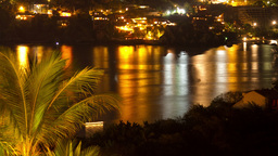 night lights tropical zihuatanejo mexico 4k Footage