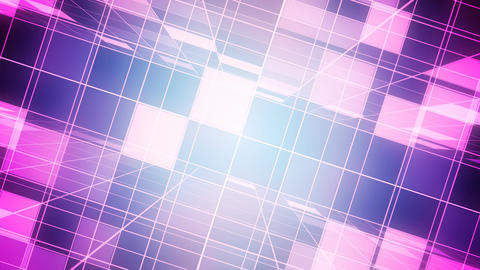 Pink Broadcast Grid Animation