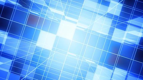 Blue Broadcast Grid Animation