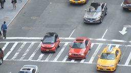 NYC Traffic Above 001 Video stock footage