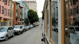 2011 San Fran Cable Car Ride 1 PJPEG stock footage