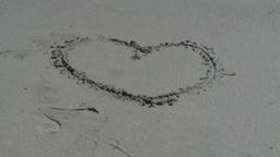2012 Beach Heart stock footage