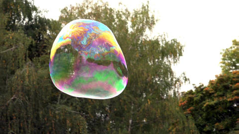 Flight And Death Of A Soap Bubble - HD stock footage