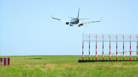 Airplane Landing - HD stock footage