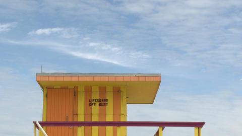 Tilt down on a lifeguard stand Footage