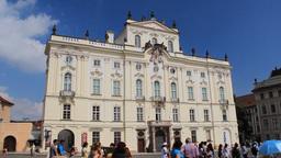 Prague. Archibishop's Palace Live Action