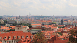 Panoramic view on Prague, Czech Republic Footage