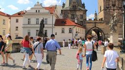 Prague, Czech Republic. The Charles bridge Live Action