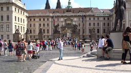 Prague Castle (old Royal Castle), Czech Republic Live Action