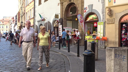Street in the old town in Prague. Czech Republic Footage