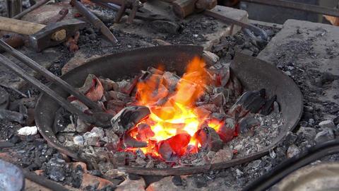 Blacksmith Fireplace Live Action