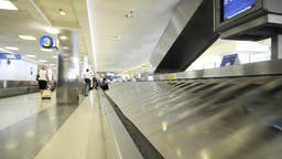 AIRPORT BAGGAGE stock footage