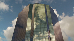 CC Buildings Clouds 3 Proj stock footage