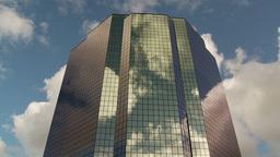 CC Buildings Clouds 3 Proj stock footage