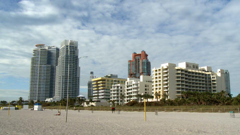 South Beach apartment buildings Footage