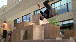 Parkour 1 2011 stock footage