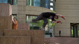 Parkour 9 2011 stock footage