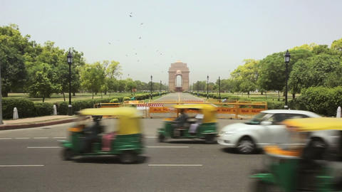 India Gate in Delhi Footage