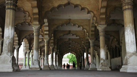 Agra Fort, The Hall of Public Audience Stock Video Footage
