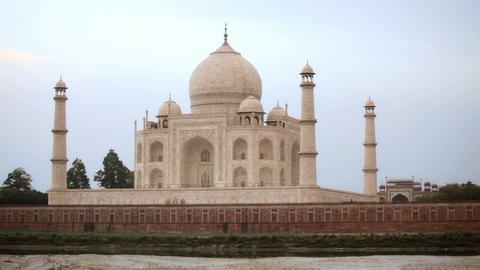 Taj Mahal at Sunset Stock Video Footage